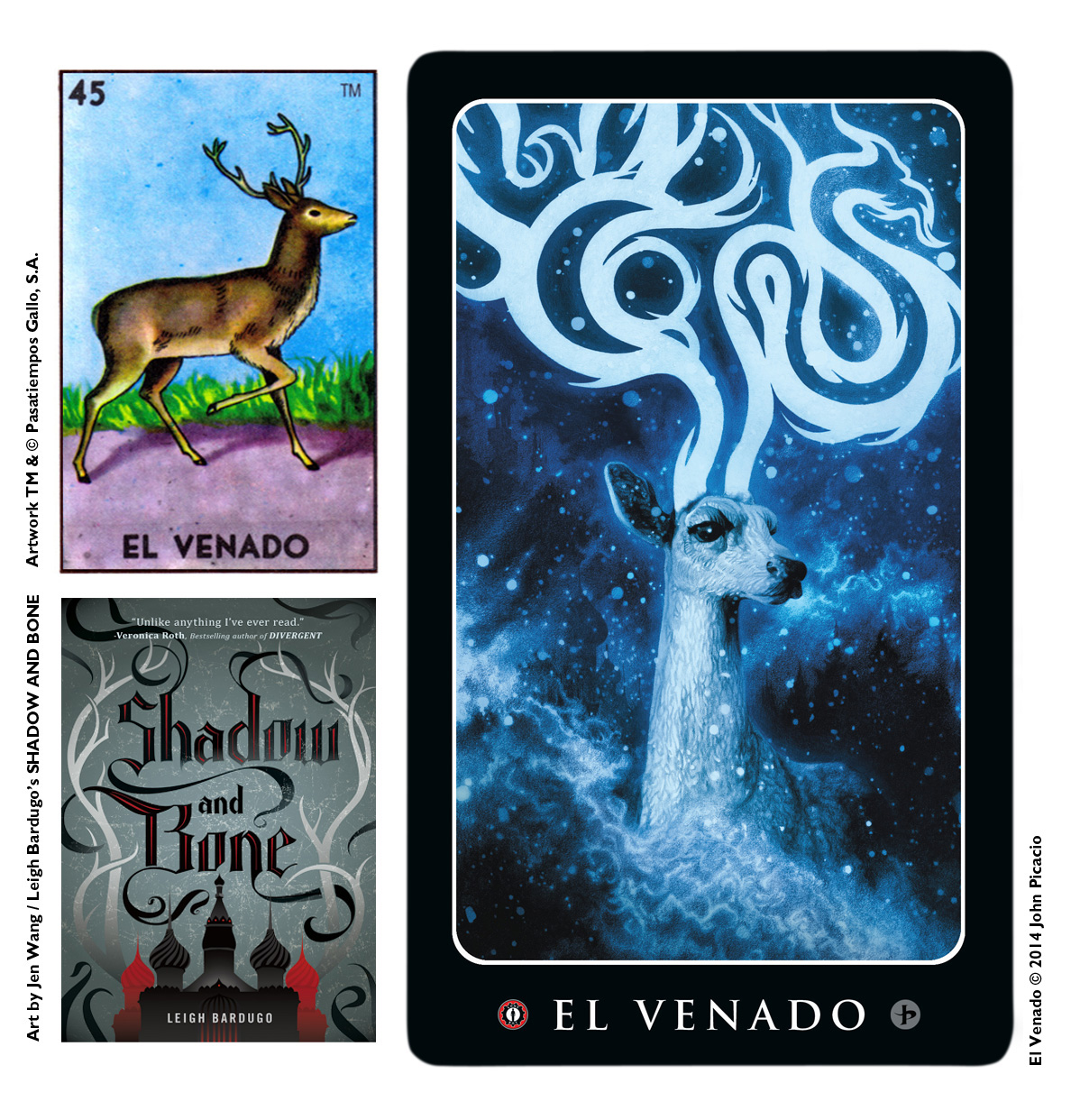 My art for 'El Venado' was inspired by the phenomenal YA novels of Leigh Bardugo.